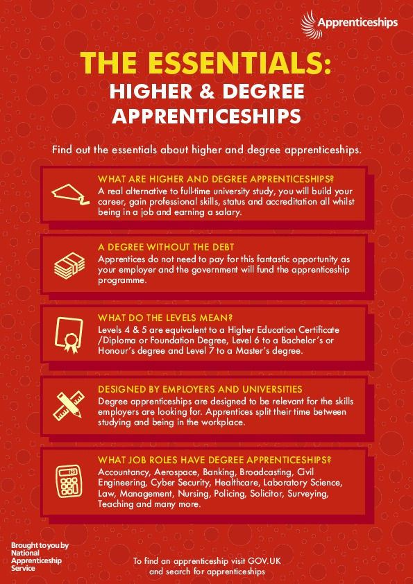 Exam results support 2020 higher and degree apprenticeships poster