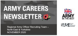 Armed forces careers newsletter nov 2020 image