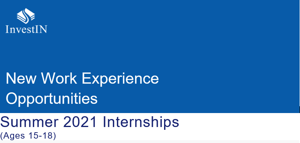 Summer 2021 internships from investin for ages 15 18 image
