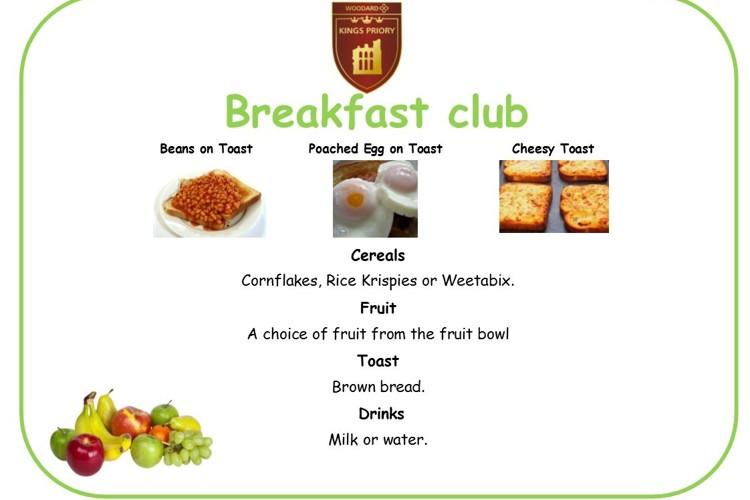 Breakfast club menu