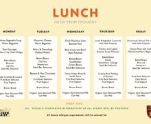 Kps week 1 menu