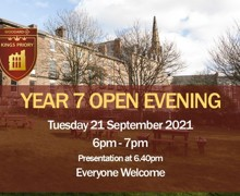 Year 7 open evening 2021 image for fb